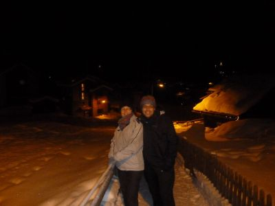 Late night snow walk