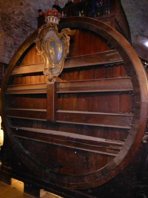 Giant wine barrel at the castle