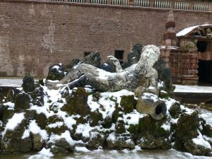 Statue in the gardens - it was cold there!