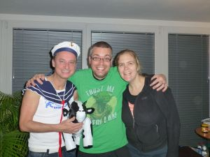 Us with Dietmar (dressed up for Carneval)