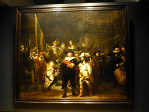 "Rembrandt's famous painting ""The Night Watchmen"""