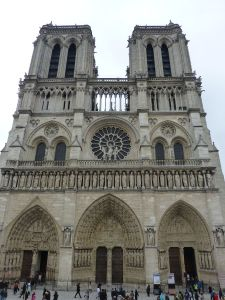The beautiful front of Notre Dame