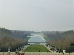 View from the back of Versailles
