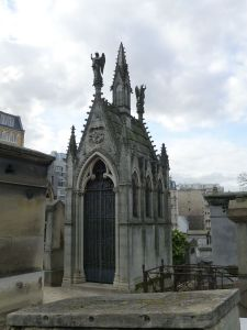One of the ornate graves in the cemetery