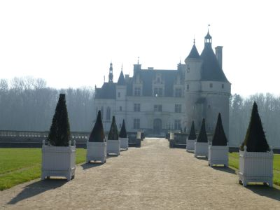 Our first view of our first chateau