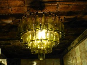 There was also a chandelier made from bottles. Cool.