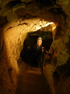 In the former underground passage