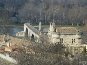 View of the Avignon bridge
