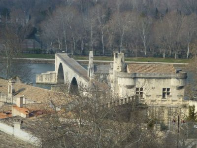 View of the Avignon bridge
