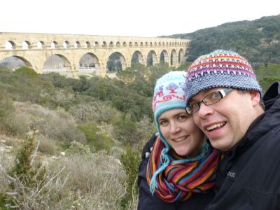 Us at the Pont du Gard