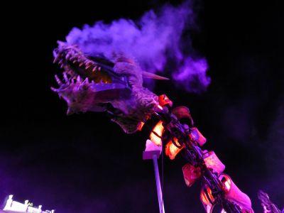 A smoke breathing dragon
