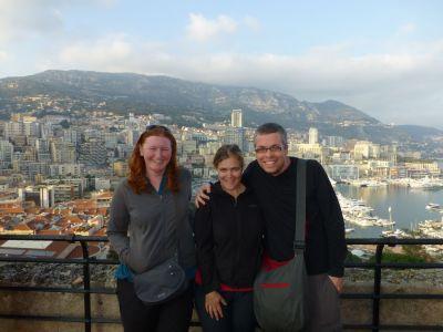 Sarah, Karen and Reubs in Monaco