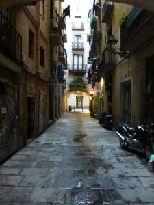 The narrow streets of the quarter
