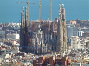 View of La Sagrada Familia from Parc Guell