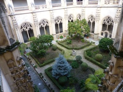 Looking into the cloister garden