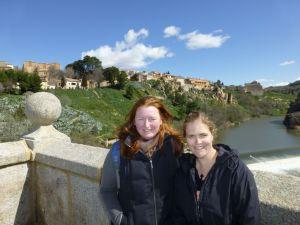 Sarah and Karen on the bridge