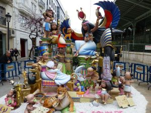 An Egyptian themed children's falla
