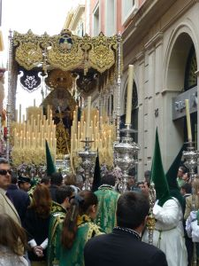 In the middle of a procession