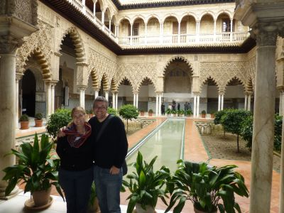 In the middle of the Alcazar