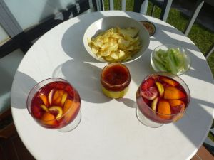 Home made sangria...mmm