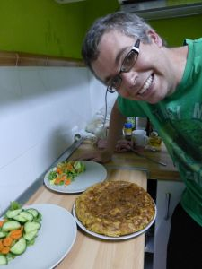 Reubs making patata tortilla