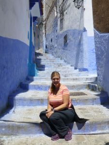 One of the blue alleyways