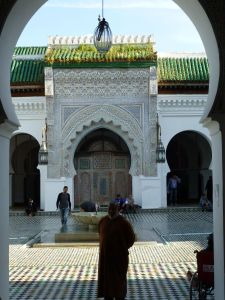 Looking into the mosque