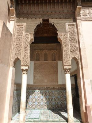 At the Saadian tombs