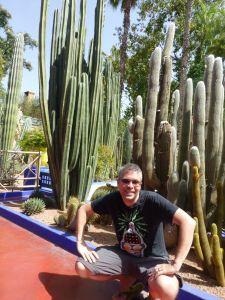 In the Jardin Marjorelle