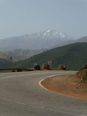 Heading through the windy mountain road
