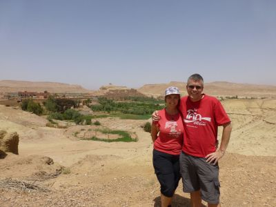 Looking over to the Kasbah