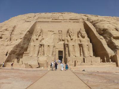 Abu Simbel temple of Rameses