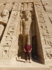 Reubs at the temple of Nefertari