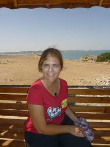 Karen by the lake that flooded the original site