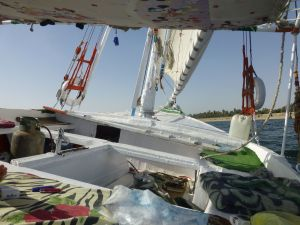 On board the felucca