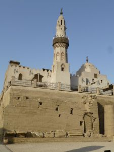 The mosque built on top of the ruins