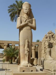 One of the huge statues