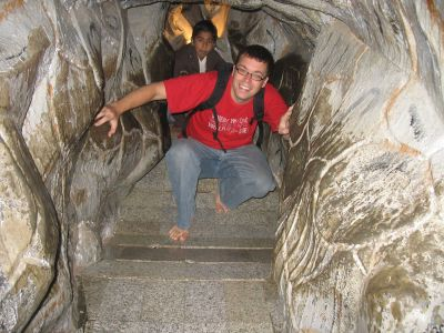 Exploring in the cave temple