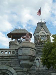He climbed a castle