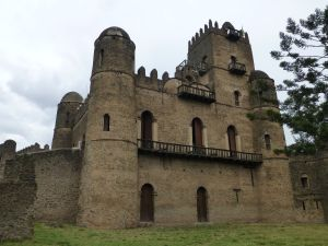 In the castle complex