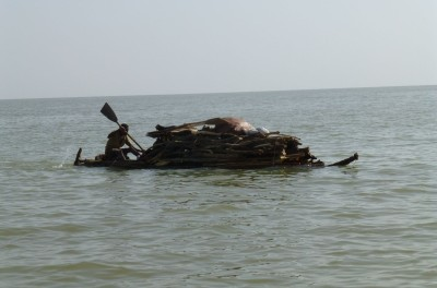 One of the traditional boats
