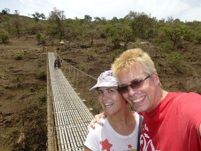 On the swing bridge