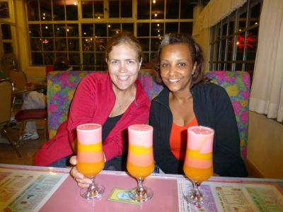 Drinking spris with the fabulous Liya