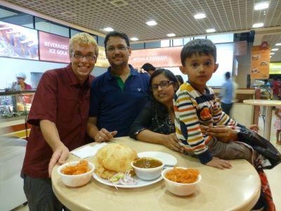Jelebi and chole batura