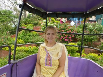 In the gondola that goes to the temple
