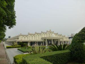 At the ashram