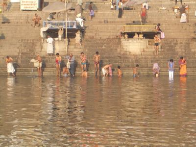 Bathing at the ghats