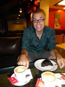 Chocolate cake for dessert!