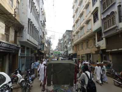 View from a cycle rickshaw