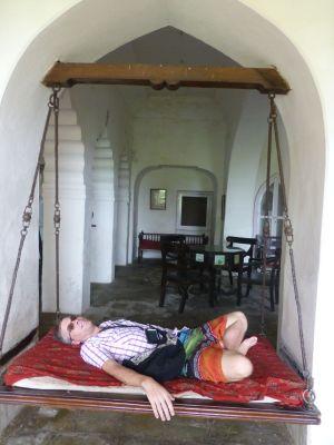 Reubs in the room of the swings